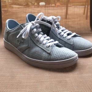 Converse Pro Leather Perforated Suede Low Top Shoe